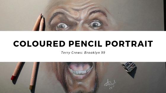 Coloured Pencil Portrait – Terry Crews (Brooklyn 99)