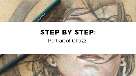 Step By Step: Coloured Pencil Portrait of Chazz