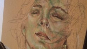 Verdaccio style of lighting and shawos on a pastel pencil piece