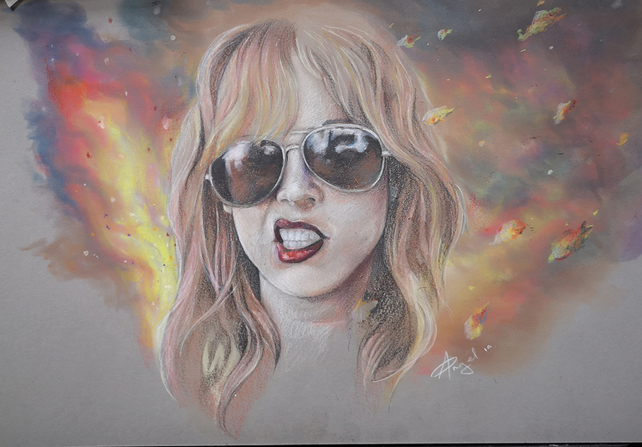 Lzzy Hale of Halestorm - drawing by Angel Illustrations